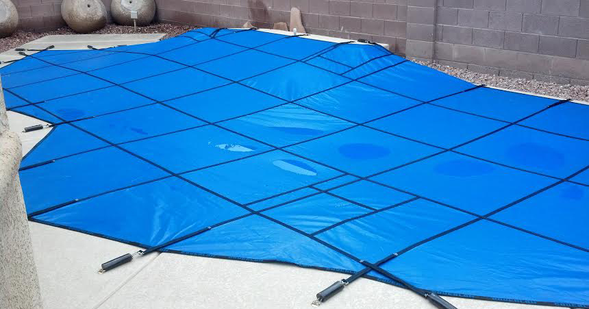 Winter Safety Pool Covers Installed By Safe Defenses In