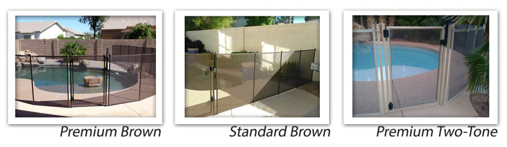 las vegas pool safety fence color options