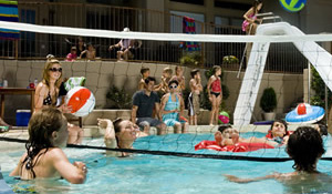 Pool sport equipment installed in las vegas for Pool design for volleyball