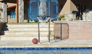 professional basketball hoop for swimming pool
