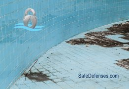 empty swimming pool cover