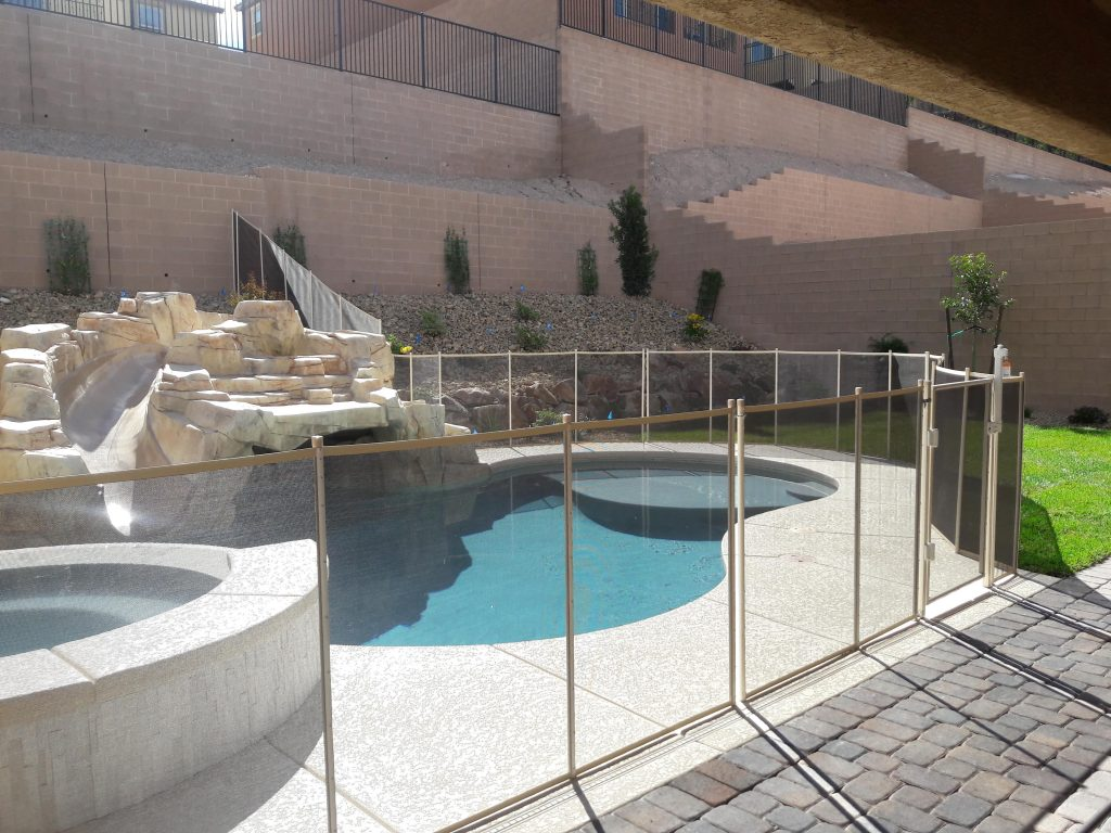 pool safety fences, safety fence, pool gate from Safe Defenses Las Vegas